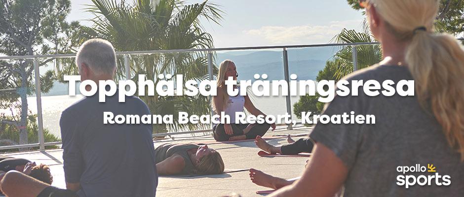 18-25 sept 2021 - Topphälsas träningsresa på Romana Beach Resort i Kroatien - LÄS MER
